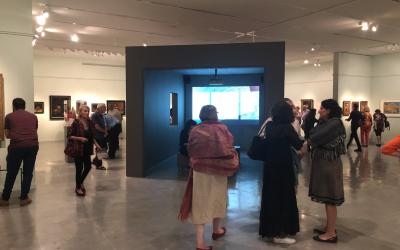"""Le vernissage de l'exposition : """"Choix Fatidiques : Les oeuvres d'art du trésor de  Gurlitt"""", exposition très attendue de la collection Gurlitt au Musée d'Israël, le 23 septembre 2019 (Autorisation :   Jessica Steinberg)"""