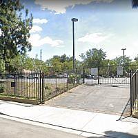 Le temple Ahavat Shalom de Los Angeles, ciblé par un acte antisémite. (Google Maps)