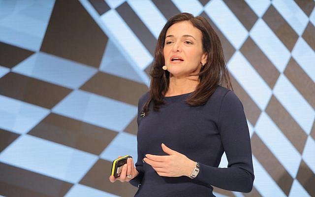 Sheryl Sandberg, cheffe des opérations de Facebook, lors de la conférence DLD de Munich en 2019, le 20 janvier 2019 (Crédit :  Alliance for DLD   Verwendung weltweit)