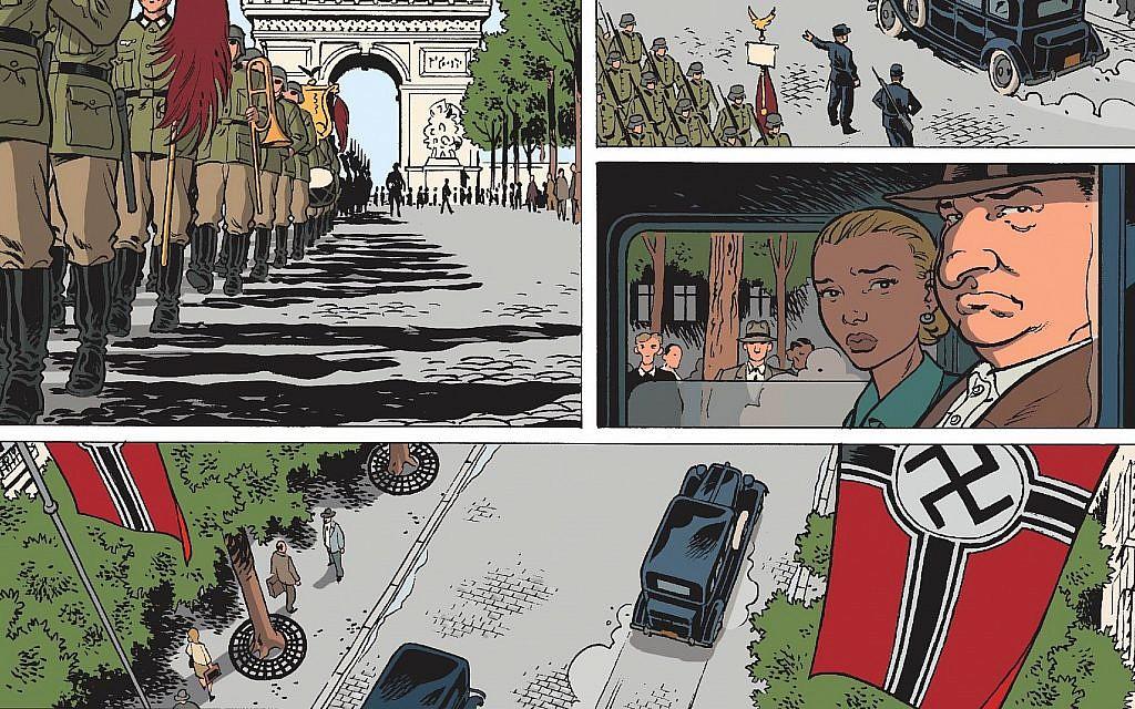 """Extrait de la version anglaise de """"Il était une fois en France"""". (© Éditions Glénat)"""