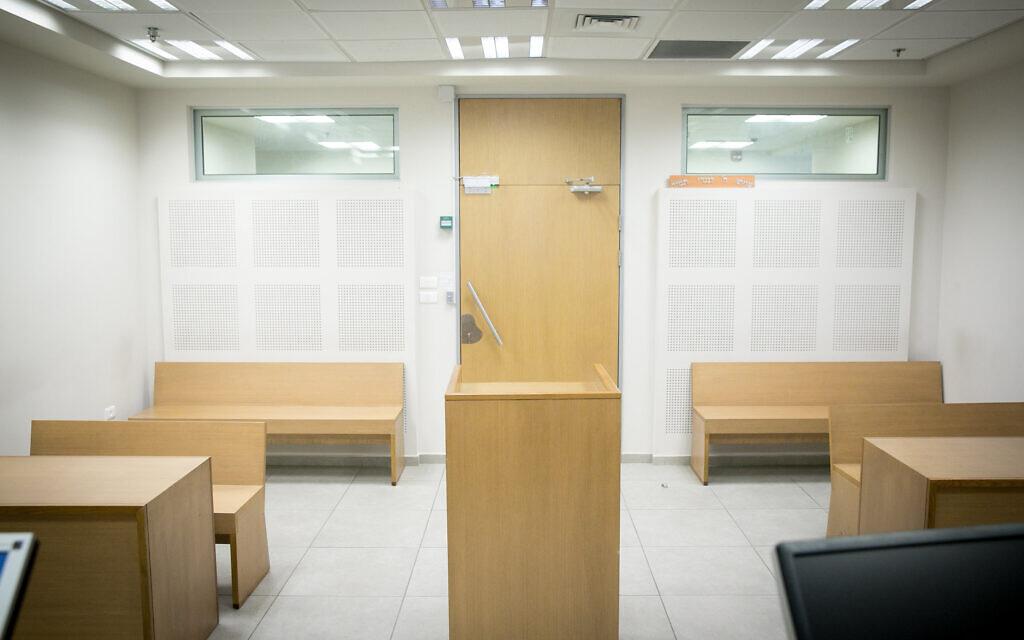 La salle de la du département des Agounot au sein du tribunal rabbinique de Jérusalem, le 17 septembre 2017. (Crédit : Miriam Alster/FLASH90)