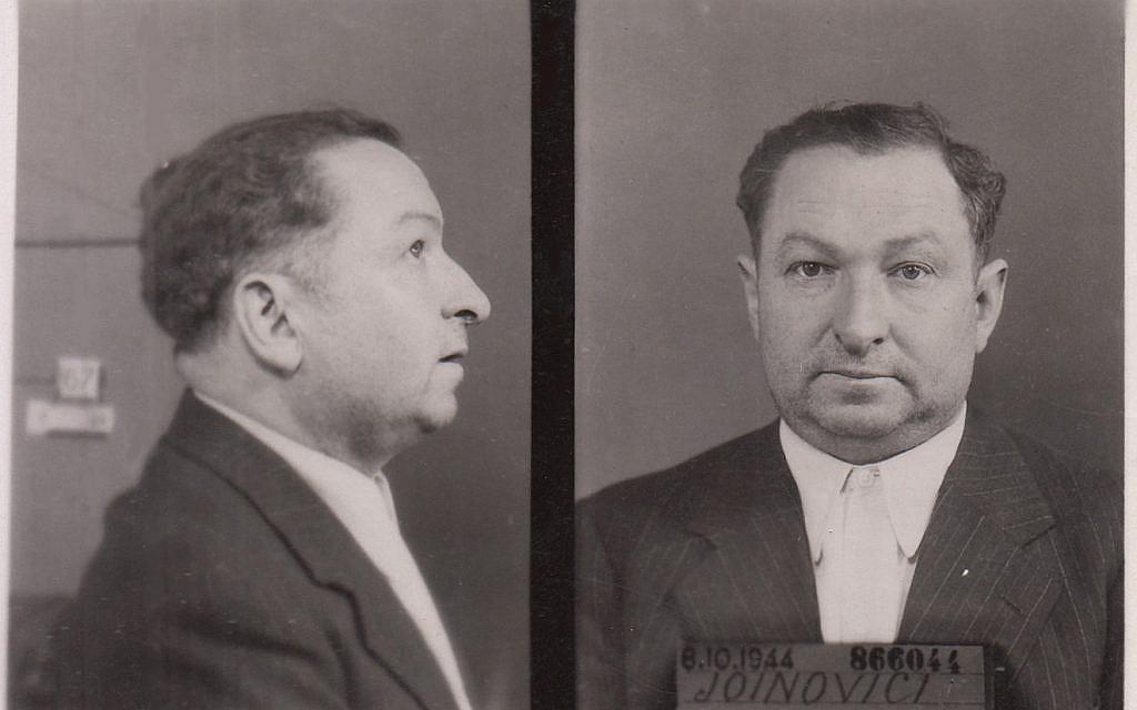 Photo de la carte d'identité de Joseph Joanovici, octobre 1944. (Domaine public via wikimedia commons)