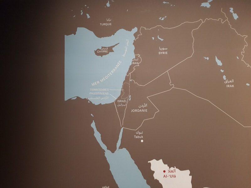 Israel carte du monde