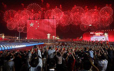 La Chine fête son 70ème anniversaire sur la place Tiananmen de Pékin, marquant ainsi la fondation de la République populaire de Chine, le 1 octobre 2019. (AP Photo/Ng Han Guan)