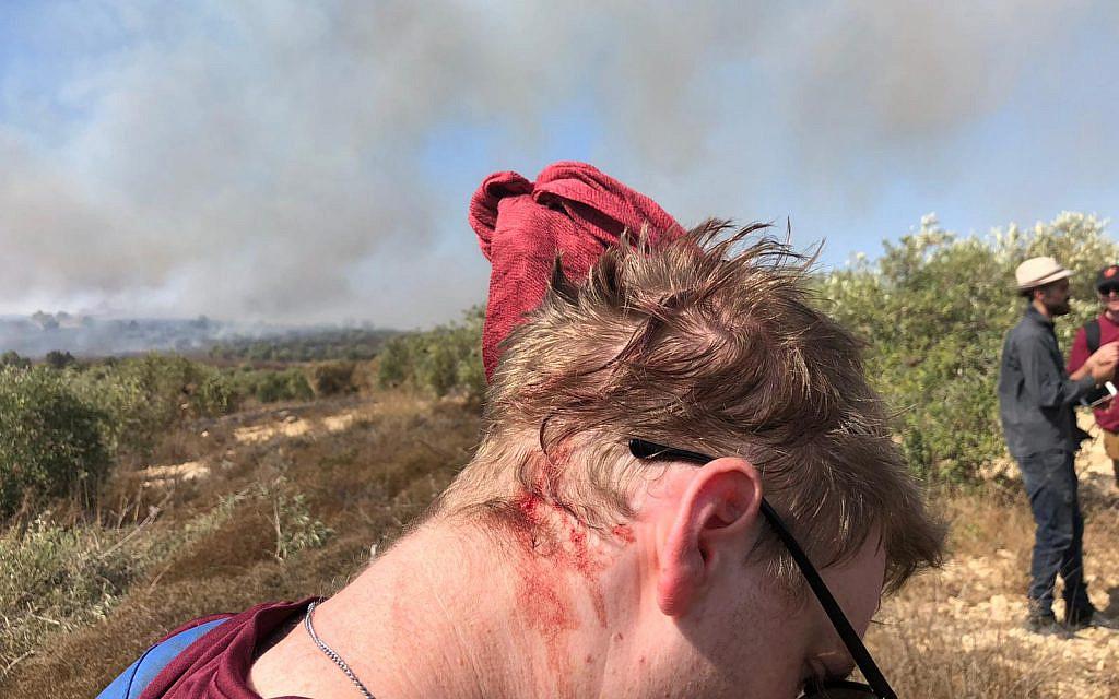 Affrontements entre Palestiniens, soldats et civils israéliens à un avant-poste
