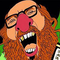 Une caricature d'un Juif orthodoxe distribuée par les organisateurs avant le carnaval 2020 Aalst. (Crédit : FJO via JTA)