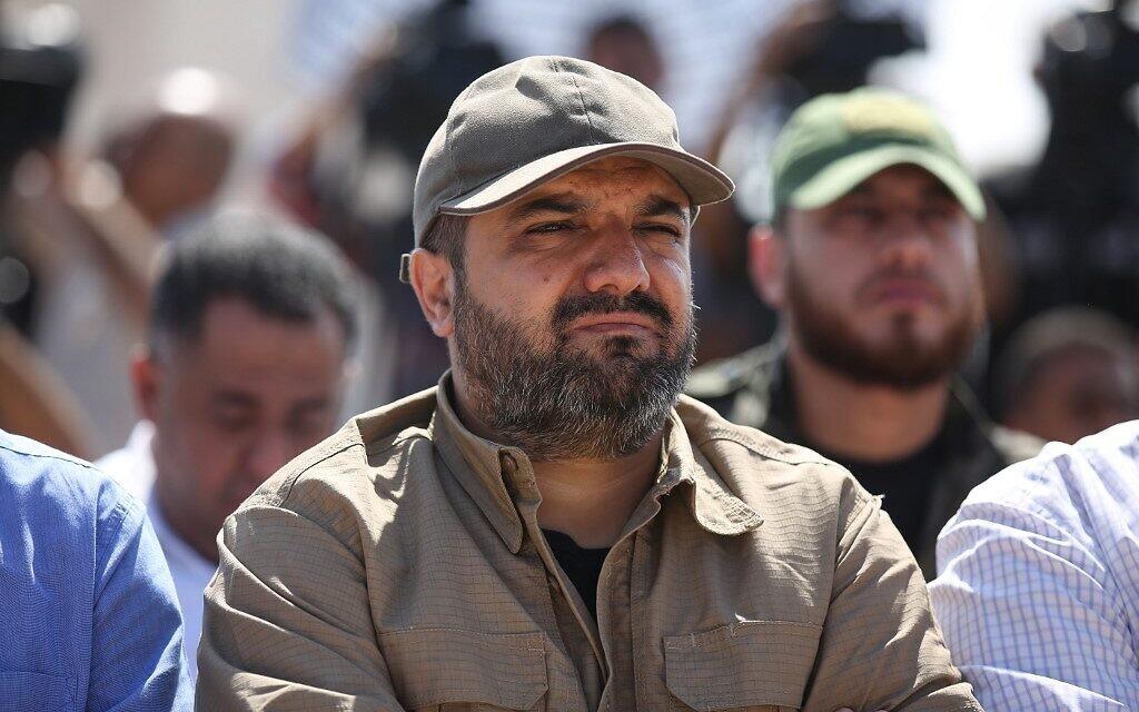 Le chef du Jihad islamique palestinien Baha Abu al-Ata attend à Gaza, le 21 octobre 2019. (Crédit : STR/AFP)