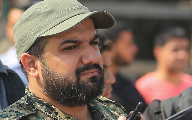 Le chef terroriste du Jihad islamique palestinien Baha Abu al-Ata assiste à un rassemblement dans la ville de Gaza, le 21 octobre 2016. (STR/AFP)