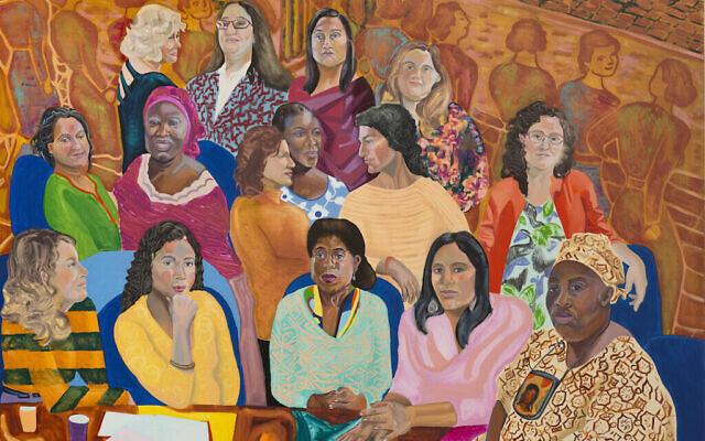 """MOIA's (Mayor's Office of Immigrant Affairs) NYC Women's Cabinet"", 2016. (Autorisation de l'artiste et Anton Kern Gallery, New York/© Aliza Nisenbaum)"