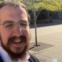 Le rabbin Avrohom Zippel. (Crédit : Facebook)