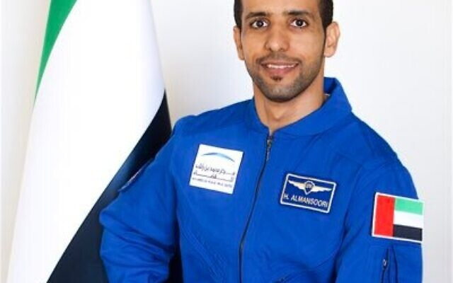 L'astronaute émirati Hazzaa Al Mansouri. (Crédit ; Twitter)