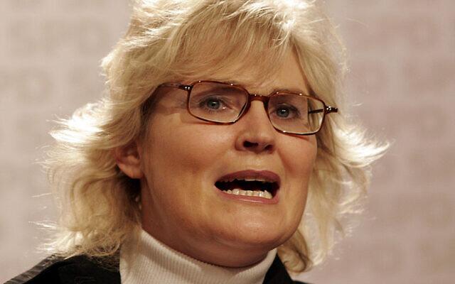 Christine Lambrecht, en 2008 (Crédit : Kuebi = Armin Kübelbeck/CC BY-SA 3.0)