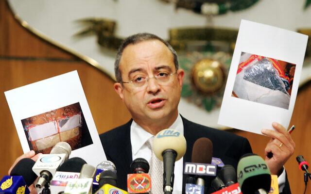 Marwan Muasher, alors vice-Premier ministre de la Jordanie, prononce un discours, le 13 novembre 2005. (AP Photo/Nader Daoud)