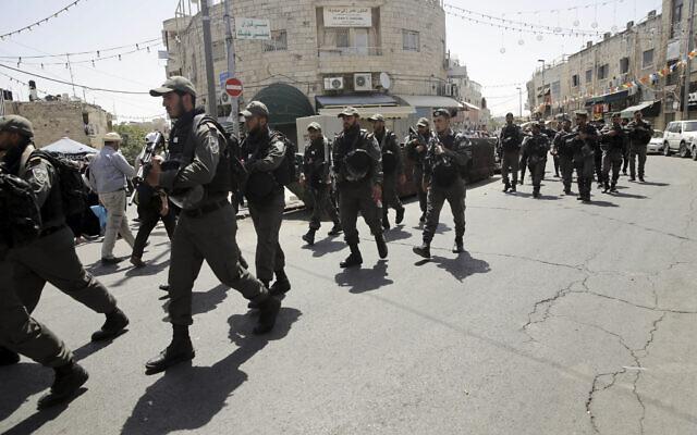 Photo illustrative de la police des frontières israélienne à Jérusalem-Est, le 18 mai 2018. (AP / Mahmoud Illean)