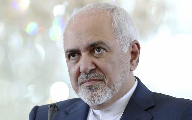 Le ministre iranien des Affaires étrangères, Mohammad Javad Zarif, lors d'une conférence de presse à Téhéran, Iran, le 10 juin 2019. (Ebrahim Noroozi/AP)