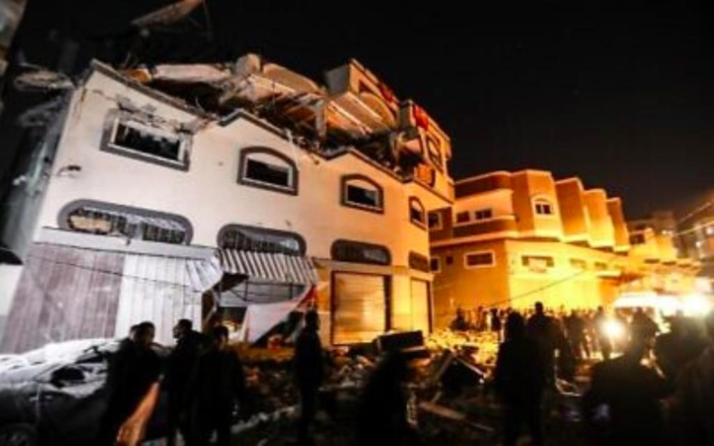 Immeuble où le terroriste du Jihad islamique al-Ata dormait dans la nuit du 11 au 12 novembre 2019 (Crédit : autorisation)