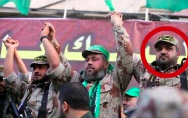 Baha Abu al-Ata (en rouge), chef du Jihad islamique palestinien. (Crédit : Porte-parole de l'armée israélienne)
