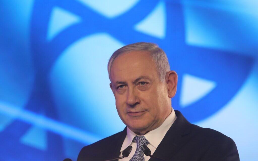 Le Premier ministre Benjamin Netanyahu à Jérusalem, le 5 novembre 2019 (Crédit :  Marc Israel Sellem/Pool/Flash90)