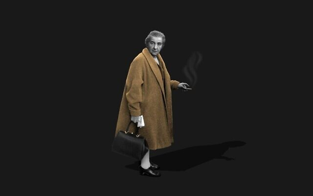Golda Meir. (Crédit : David Levy/GPO)