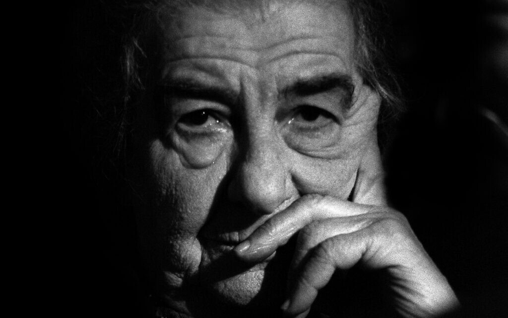 Golda Meir. (Crédit : Yaakov Saar/GPO)