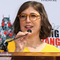 Mayim Bialik, le 1er mai 2019. (Crédit : Paul Archuleta/FilmMagic/Getty Images via JTA)