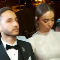 Dor et Orel Huri à leur mariage à Beit HaGadi, dans le sud d'Israël,le 13 novembre 2019. (Crédit : capture d'écran Instagram)