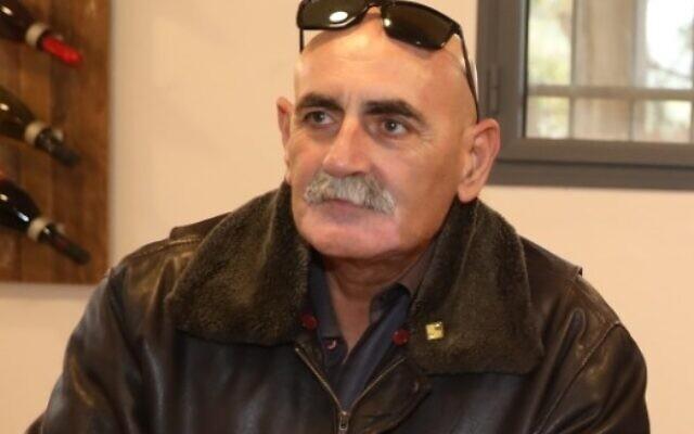Le président du conseil régional de la vallée du Jourdain David Elhayani. (Crédit : Miri Tzachi)