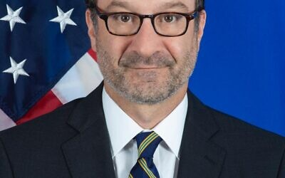 David Schenker, secrétaire d'État adjoint aux affaires du Moyen-Orient des États-Unis (Avec l'aimable autorisation du Département d'État des États-Unis)