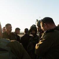 Les soldats du commandement du nord prennent part à un exercice militaire dans le nord d'Israël, au mois de novembre 2019 (Crédit : Armée israélienne)