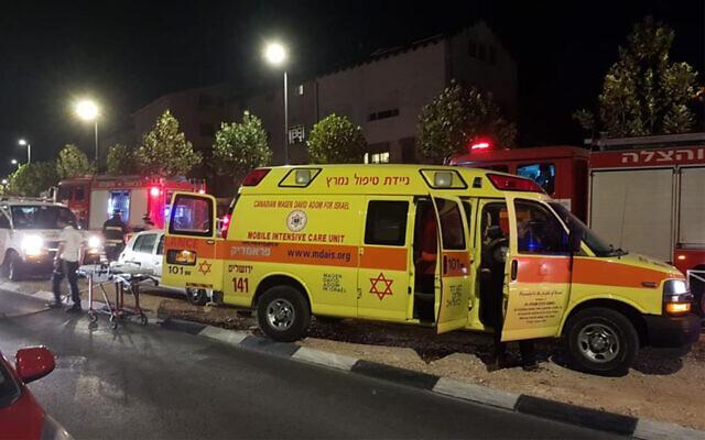 Illustration : des premiers secours sur le lieu d'un incendie, qui a fait une victime à Jérusalem, le 27 novembre 2019. (MDA)