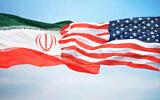 Drapeaux des Etats-Unis et l'Iran. (Crédit :  iStock)
