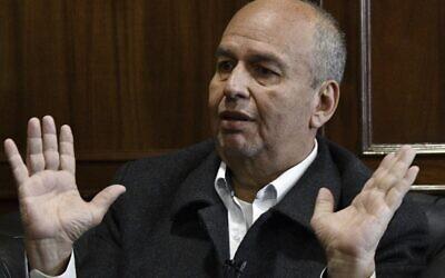 Le ministre bolivien de l'Intérieur intérimaire, Arturo Murillo, lors d'un entretien avec l'AFP à La Paz, le 6 décembre 2019. (Aizar Raldes/AFP)