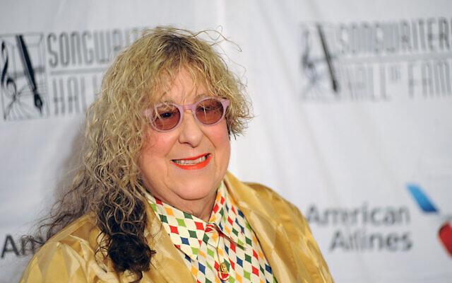 Allee Willis au 49e gala annuel d'intronisation et de remise de prix du Hall of Fame des compositeurs à l'hôtel Marriott Marquis de New York, le jeudi 14 juin 2018, à New York. (Crédit : Brad Barket/Invision/AP)