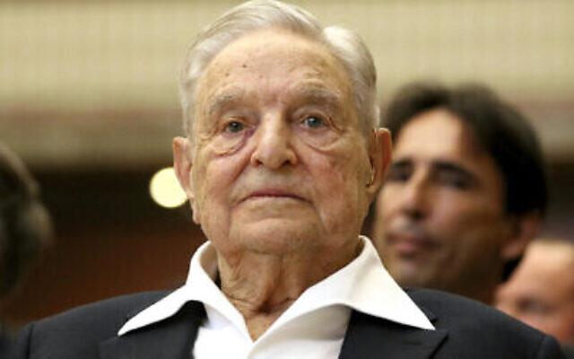 George Soros, fondateur et président de l'Open Society Foundations, lors de la cérémonie de remise du prix Joseph A. Schumpeter à Vienne, Autriche, le vendredi 21 juin 2019. (AP Photo/Ronald Zak)