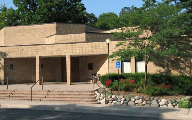 La Congrégation Beth Israel à Ann Arbor, Michigan, est le site d'une manifestation anti-Israël hebdomadaire depuis 2003. (Crédit : WIkimedia Commons via JTA)