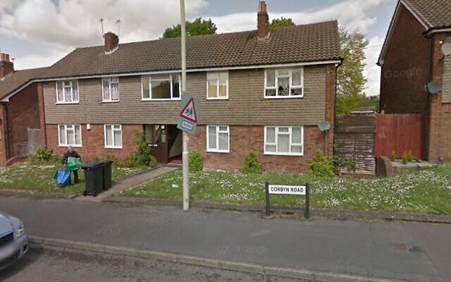 Une vue de la Corbyn Road à Dudley, au Royaume-Uni (Crédit : Google Maps)