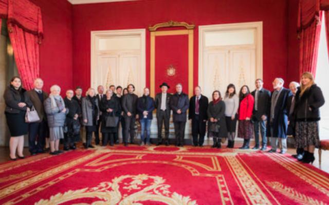 Les représentants juifs et catholiques lors d'une réunion à Porto (Crédit : autorisation)