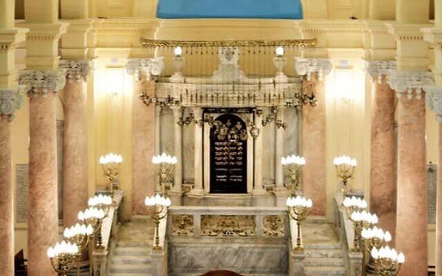 La synagogue Eliyahu Hanavi à Alexandrie, en Egypte. (Crédit : Ministère des Antiquités égyptiennes)