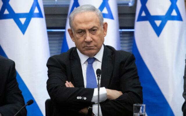 Le Premier ministre Benjamin Netanyahu lors d'une réunion du bloc des partis de droite à la Knesset, le 20 novembre 2019. (Hadas Parush/Flash90)