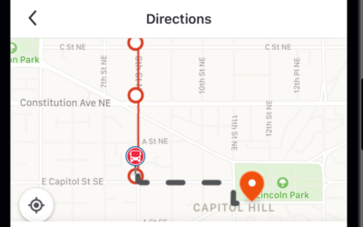 L'application Moovit en utilisation à Washington. (Autorisation)