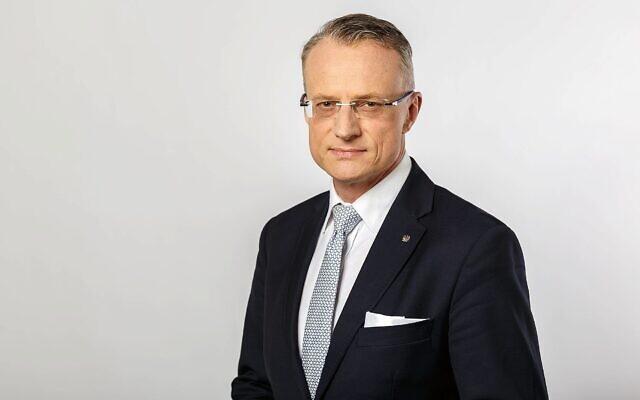 L'ambassadeur de Pologne en Israël, Marek Magierowski. (Photo de l'ambassade de Pologne)