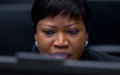La Procureure de la CPI, Fatou Bensouda, à la Cour pénale internationale à La Haye, Pays-Bas, le 28 janvier 2016. (AP Photo/Peter Dejong)