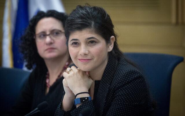 La députée du Likud Sharren Haskel à la Knesset, le 28 décembre 2017 (Crédit : Miriam Alster/Flash90)