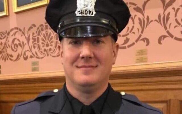 L'officier de police Joseph Seals a été abattu par des hommes armés qui ont attaqué le marché casher à Jersey City, le 10 décembre 2019. (Jersey City Police Officers Benevolent Association via JTA)