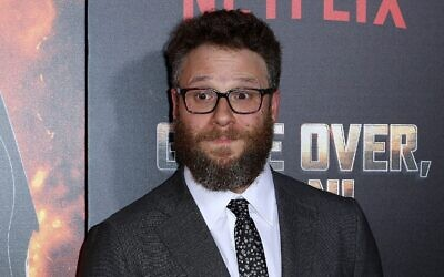 "Seth Rogen arrive à la première à Los Angeles de ""Game Over, Man!"", le mercredi 21 mars 2018 à Los Angeles (Willy Sanjuan / Invision / AP)"