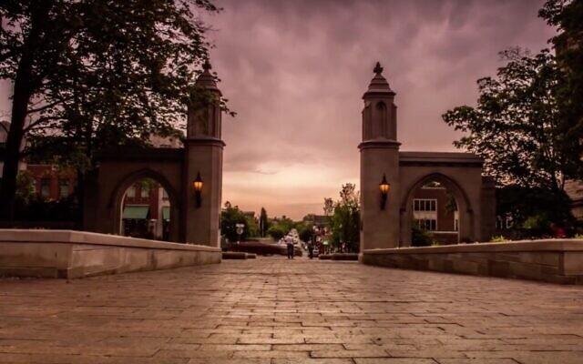 Capture d'écran d'une vidéo de l'entrée de l'Université d'Indiana. (YouTube)