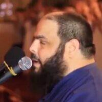 Une capture d'écran d'une vidéo d'un sermon partagé par Talal Magri, un professeur de lycée en Belgique. (Capture d'écran : Facebook)