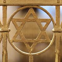 Une Etoile de David sur la synagogue de la communauté juive à Halle an der Saale, dans l'est de l'Allemagne. (Jan Woitas / dpa / AFP) / Germany OUT)