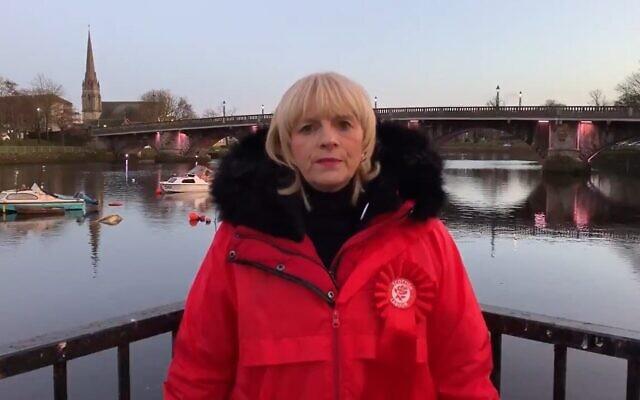 Jean Anne Mitchell, candidate travailliste écossaise pour le West Dunbartonshire, en vidéo du 5 décembre 2019. (Capture décran Twitter)