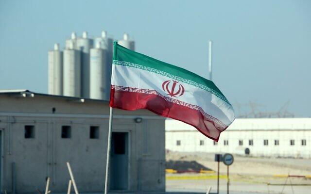 La centrale nucléaire de Bouchehr, en Iran, le 10 novembre 2019. (Crédit : ATTA KENARE / AFP)